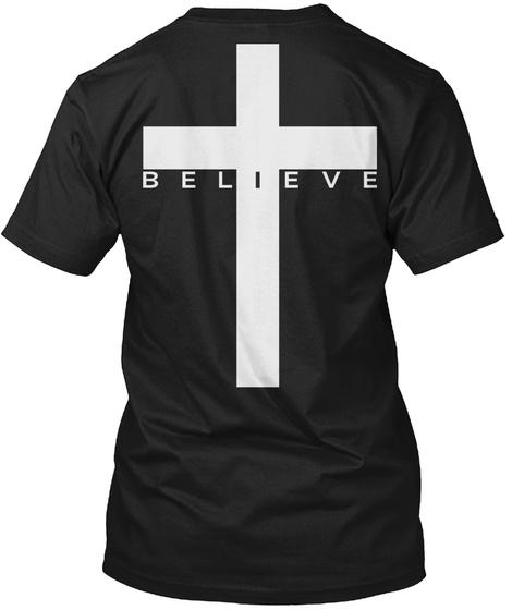 Believe Black T-Shirt Back