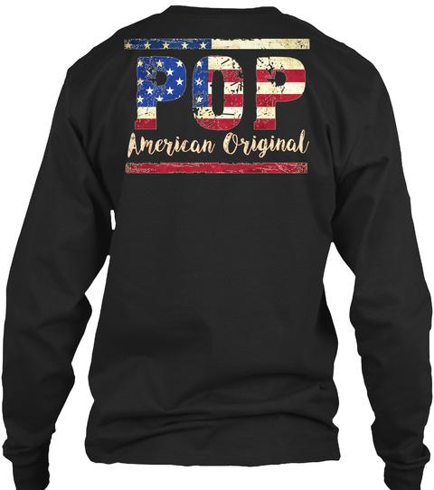 Pop American Original Black T-Shirt Back