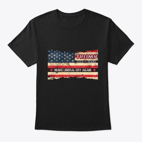 Birthday Donald Trump Flag Usa  Tee Black T-Shirt Front