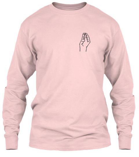 That's A Neck Long Sleeve Light Pink T-Shirt Front