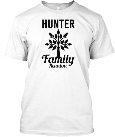 Hunter Family Reunion White Kaos Front