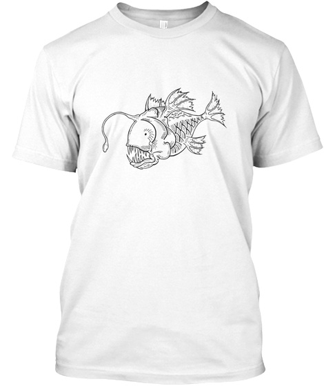Poisson Lanterne White T-Shirt Front