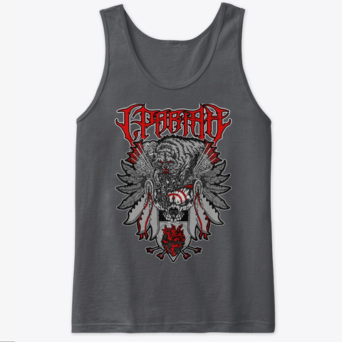 Chief Of Death Tank Charcoal T-Shirt Front