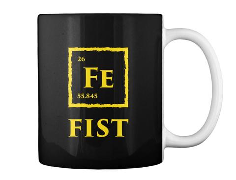 Fist Mug [Usa] #Sfsf Black Mug Back