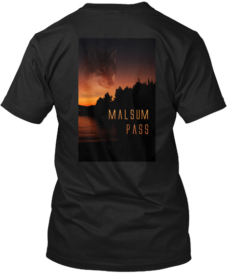 Malsum Pass Black T-Shirt Back