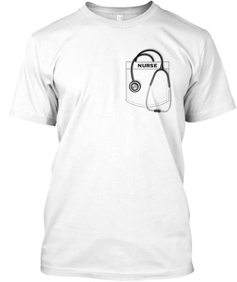 Nurse White T-Shirt Front