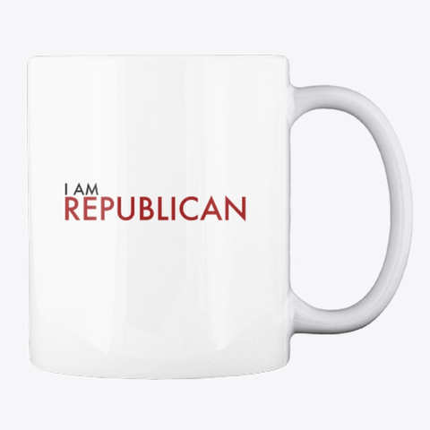 I Am Republican Red White T-Shirt Back