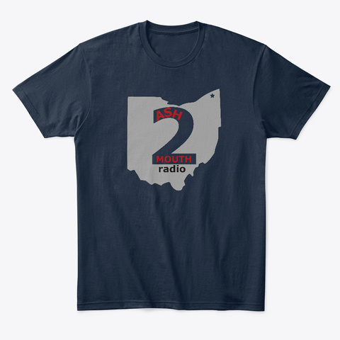 A2 M Radio New Navy T-Shirt Front