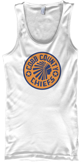 Cobb County Chiefs White T-Shirt Front