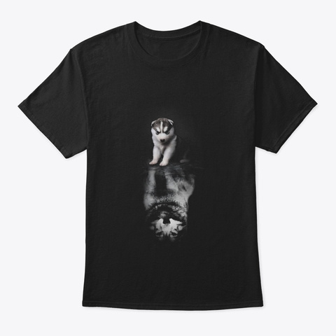 Be Yourself   Shirt For Dog Lovers Black T-Shirt Front