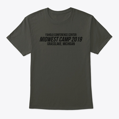 Midwest Camp Merch Smoke Gray T-Shirt Front
