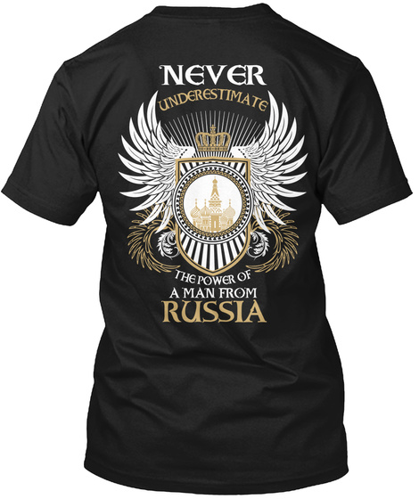 Man From Russia Black T-Shirt Back