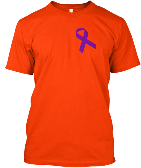 My Hero Is Now My Angel Orange T-Shirt Front