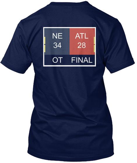 Ne 34 Atl 28 Ot Final Navy T-Shirt Back