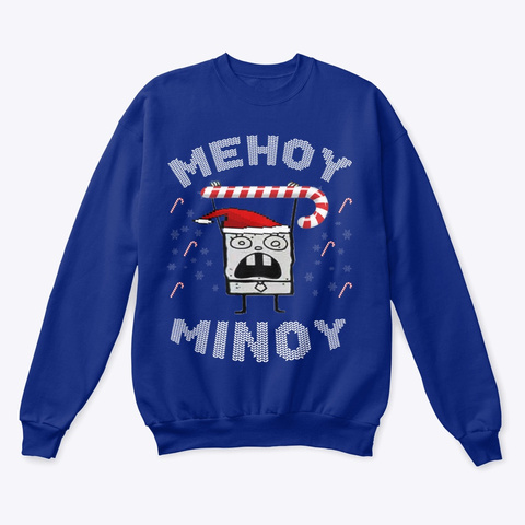 Trendy 2019 Ugly Christmas Sweater Deep Royal  T-Shirt Front