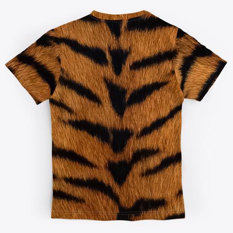 Tiger Fur Black T-Shirt Back