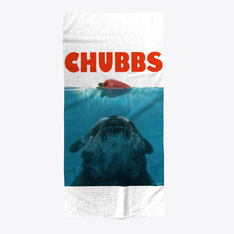 Chubbs Jaws Beach Towel, Posters Standard T-Shirt Front