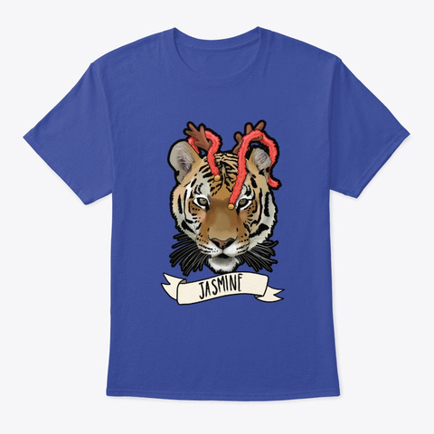 Jingle Bell Jasmine Deep Royal T-Shirt Front