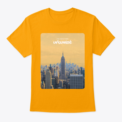 The New York Urbanist Gold T-Shirt Front