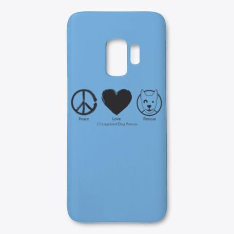 Cdr Peace Love Rescue Light Blue T-Shirt Front