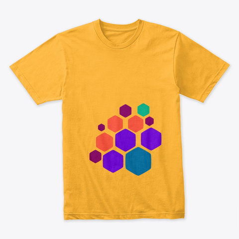 Hex Wave | Abstra Gold T-Shirt Front