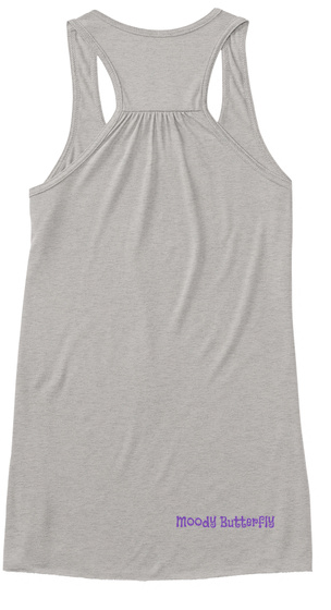 Moody Butterfly Athletic Heather T-Shirt Back