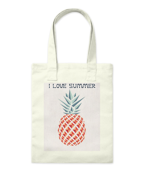 I Love Summer Natural T-Shirt Front