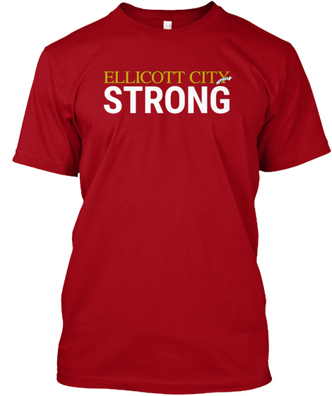 Year Anniversary: Ellicott City Strong Deep Red áo T-Shirt Front