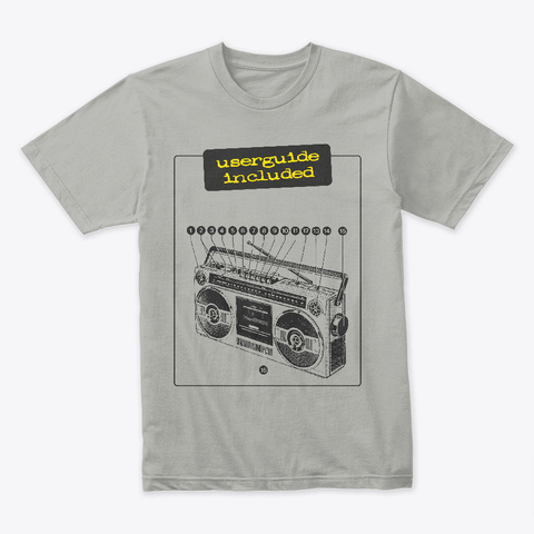 Userguide Included Light Grey T-Shirt Front