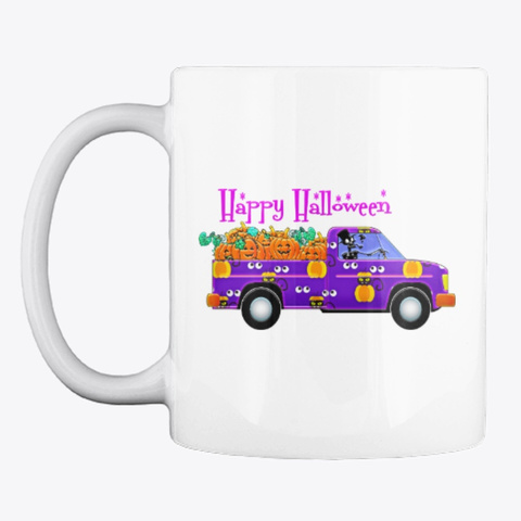 Happy Halloween Mug White T-Shirt Front