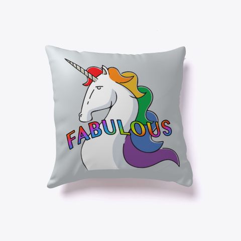Fabulous Unicorn Light Grey T-Shirt Front