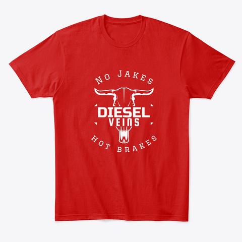 Diesel T Shirt, Trucker Shirt, Hoodies Classic Red T-Shirt Front