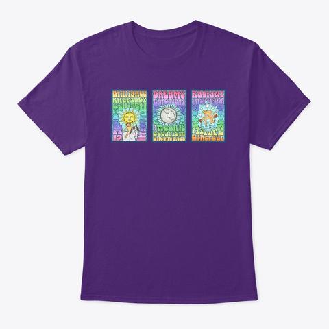 Sun Moon Star From Rock N Roll Tarot  Purple T-Shirt Front