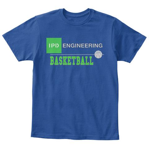 Engineering                 Basketball Deep Royal  T-Shirt Front