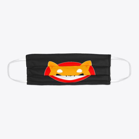Shiba Face Mask Black T-Shirt Flat