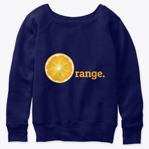 Orange Fruit Gift Vegan T Shirt Navy  T-Shirt Front