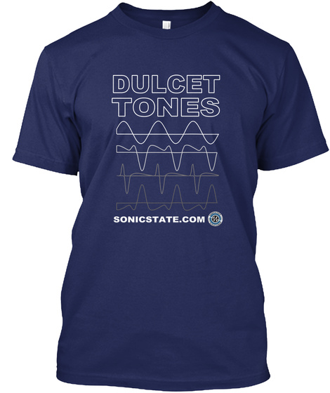Dulcet Tones Sonicstate.Com Midnight Navy T-Shirt Front