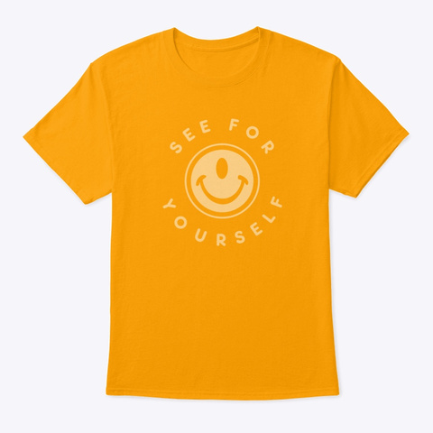 Smileclops™ See For Yourself Mellow Print Gold Kaos Front