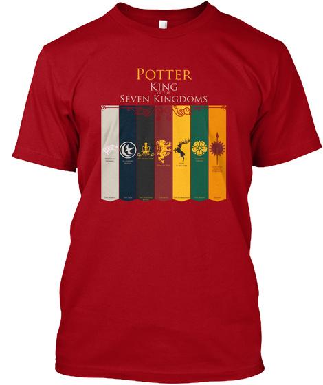Potter King Seven Kingdoms Deep Red T-Shirt Front