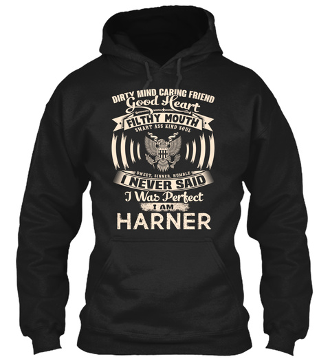 Harner Name Perfect Black T-Shirt Front