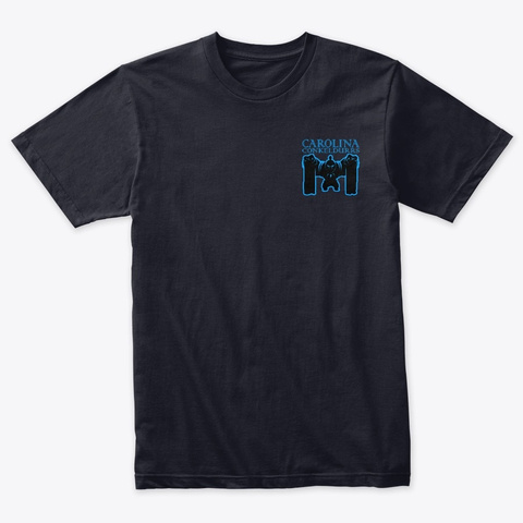 Carolina Conkeldurrs Team Logo Vintage Navy T-Shirt Front