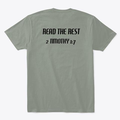 2 Timothy 1:7 Grey T-Shirt Back