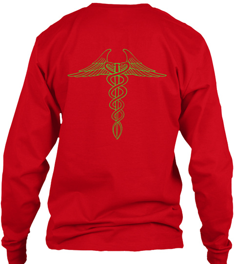 #Healthiswealth Red T-Shirt Back
