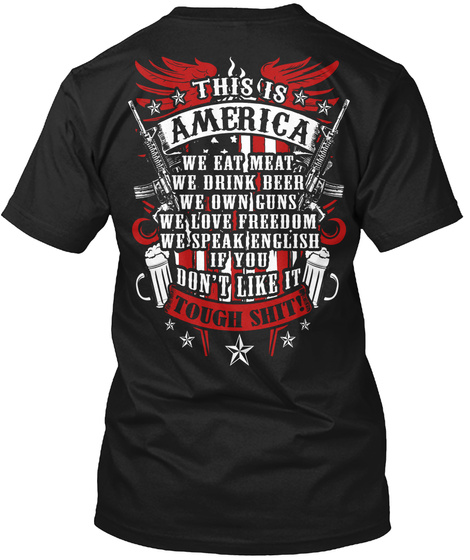 This Is America Black T-Shirt Back