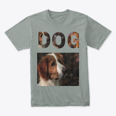 Dog Oil Portrait Dog Portrait Words Dog Warm Grey T-Shirt Front