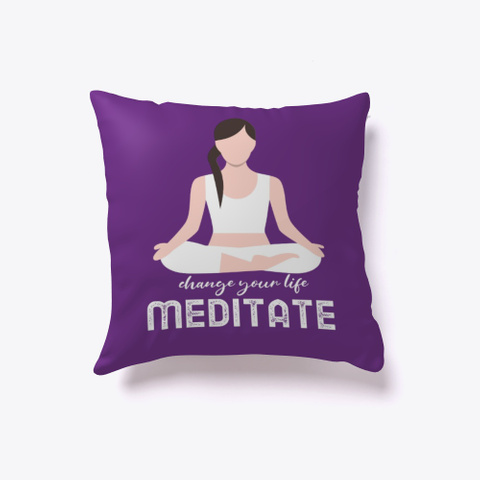 Change Your Life Meditate Purple T-Shirt Front