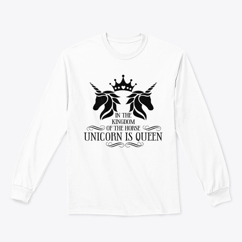 Unicorn Queen White T-Shirt Front