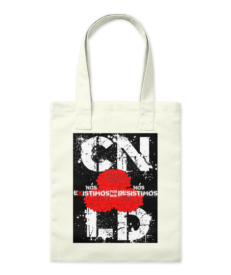 #Disabled Latinx Tote (Portuguese) Natural Tote Bag Front