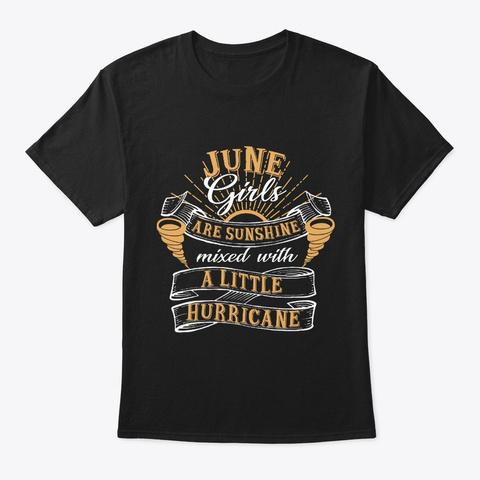 June Girls Are Sunshine Black T-Shirt Front