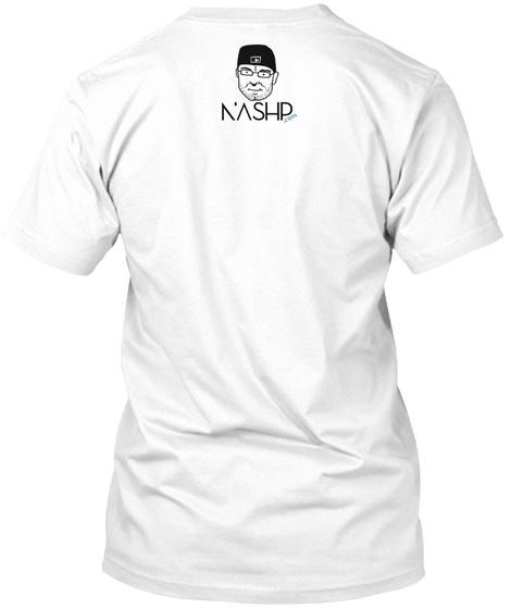 #Randal Strong Adults White T-Shirt Back